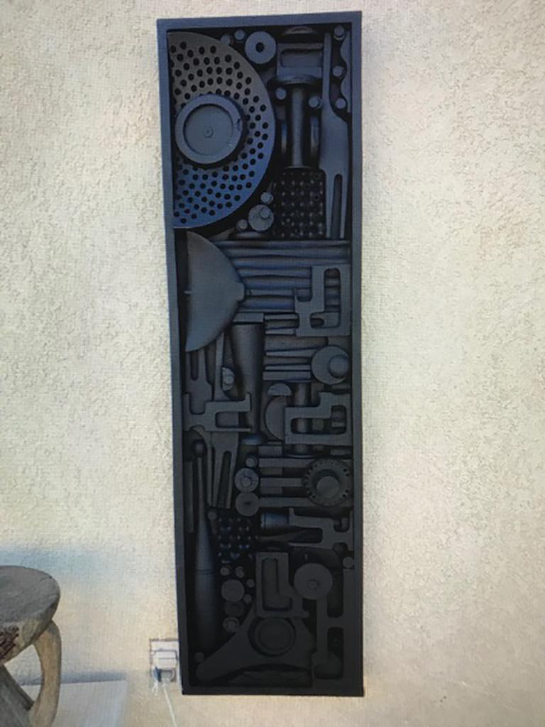 American Monumental Mixed-Media Abstract Wall Sculpture in the Style of Nevelson For Sale