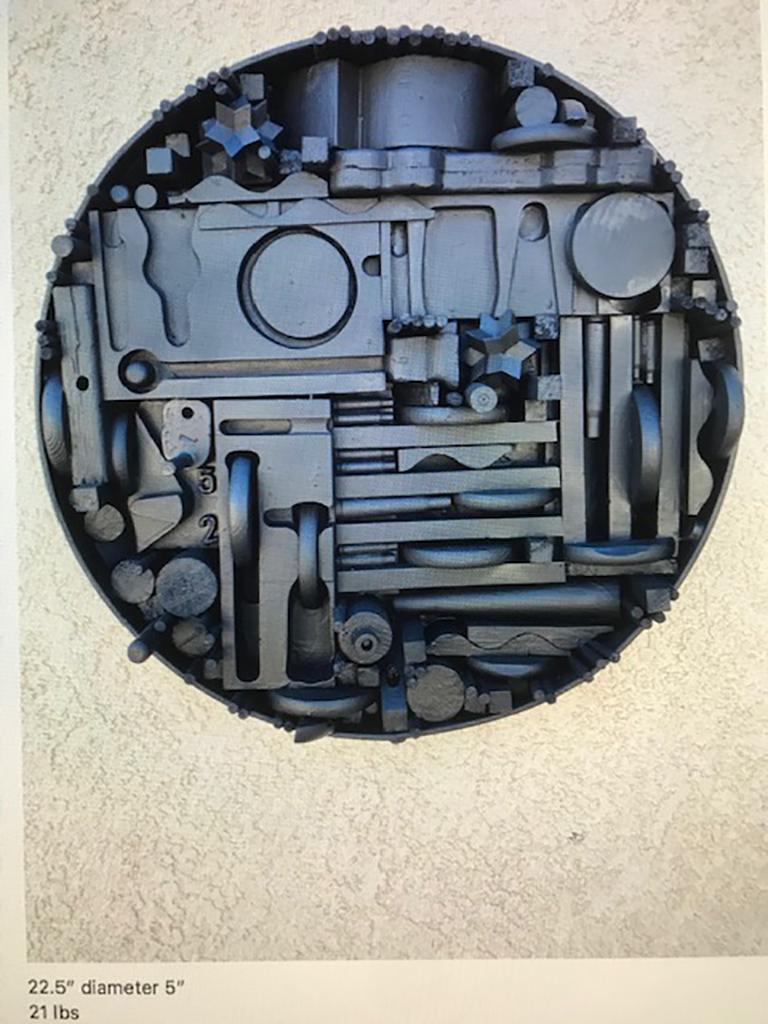 Monumental Mixed-Media Abstract Wall Sculpture in the Style of Nevelson In Good Condition For Sale In Pasadena, CA