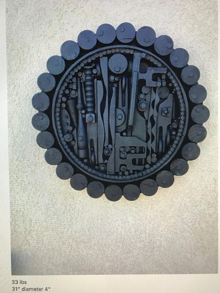 Contemporary Monumental Mixed-Media Abstract Wall Sculpture in the Style of Nevelson For Sale