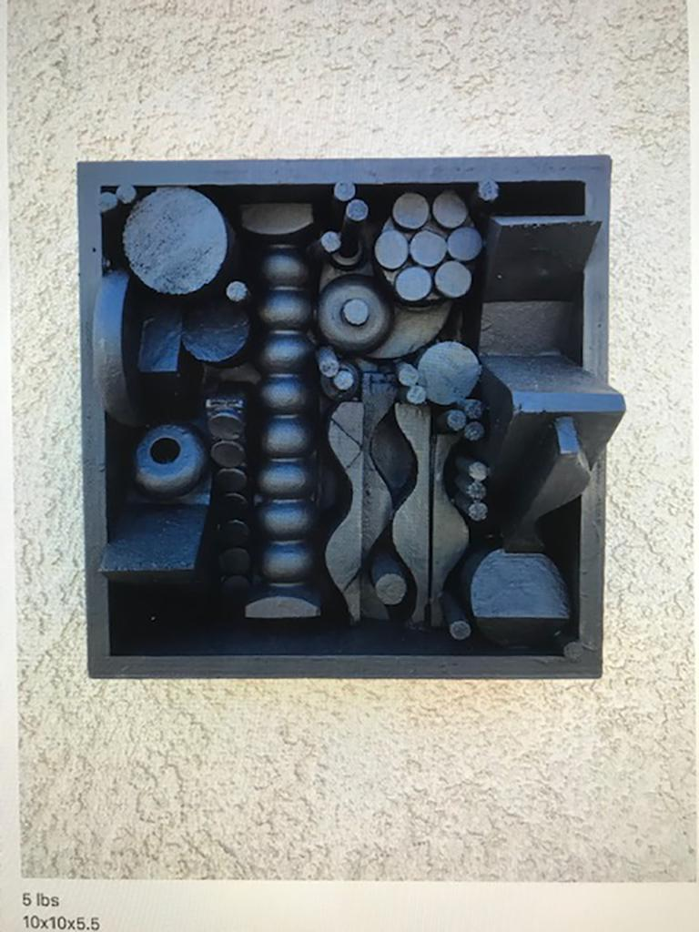 Plastic Monumental Mixed-Media Abstract Wall Sculpture in the Style of Nevelson For Sale