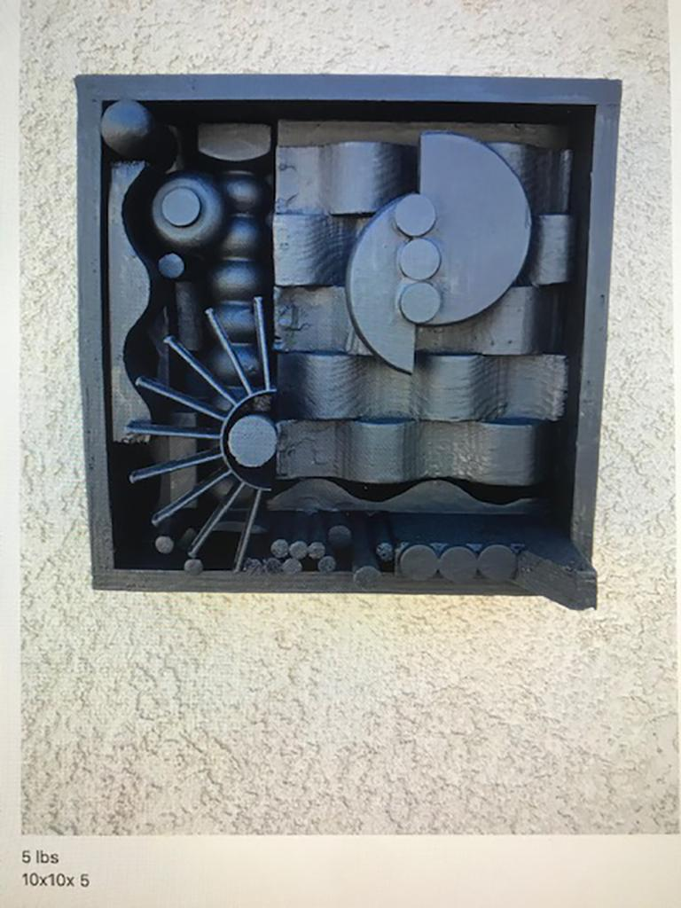 Monumental Mixed-Media Abstract Wall Sculpture in the Style of Nevelson For Sale 1