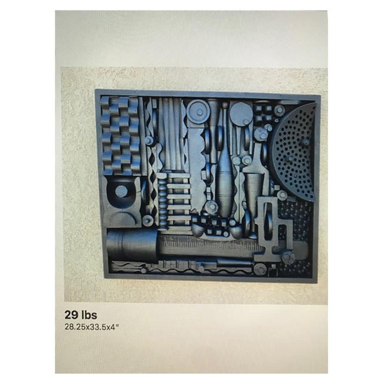 Monumental Mixed-Media Abstract Wall Sculpture in the Style of Nevelson For Sale