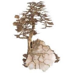 Monumental Mixed Metal Tree Sculpture
