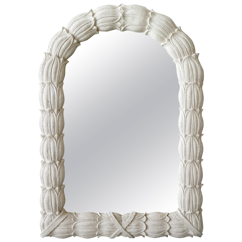 Monumental Molded Concrete Sand Stone Wall Mirror