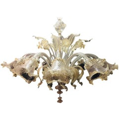 Monumental Murano Chandelier 12 Arms Made in Italy, Hand Blown and Handcrafted