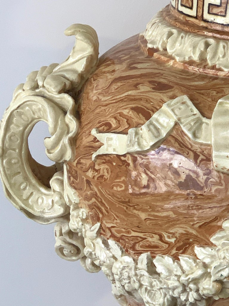 Monumental Neoclassical Aptware/Mixed Earth Lavabo Wine Urn For Sale 1