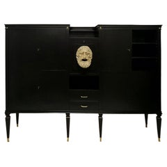 Monumental Neoclassical Bar Cabinet by Paolo Buffa