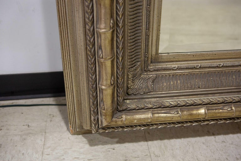 Monumental Neoclassical Style Metal Mirror In Good Condition For Sale In New York, NY