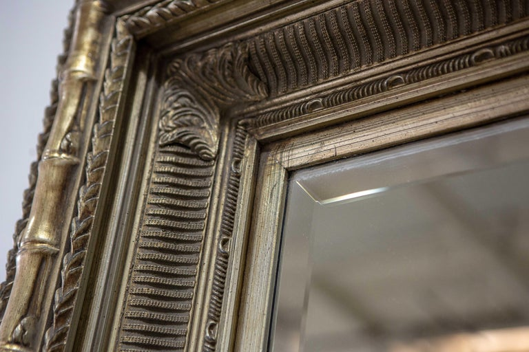 Monumental Neoclassical Style Metal Mirror For Sale 4