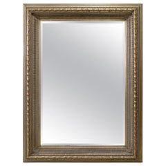 Monumental Neoclassical Style Metal Mirror
