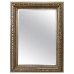 Monumental Neoclassical Style Metal Mirror