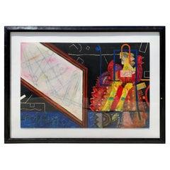 Monumental Norman Lalibertè Mixed Media Painting on Panel