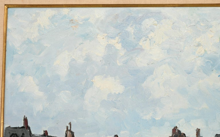 Monumental Oil Painting on Canvas by Fernand Herbo, 20th Century For Sale 5