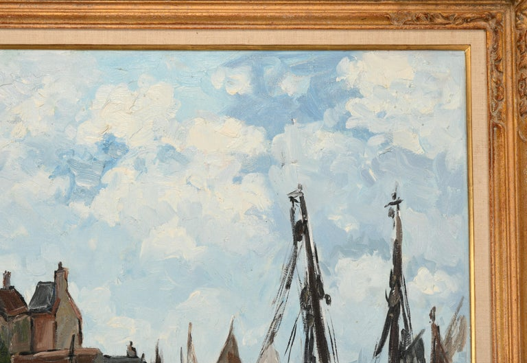 Monumental Oil Painting on Canvas by Fernand Herbo, 20th Century For Sale 6