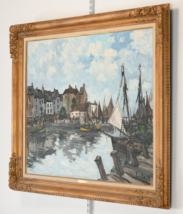 Monumental Oil Painting on Canvas by Fernand Herbo, 20th Century In Good Condition For Sale In Hamburg, PA