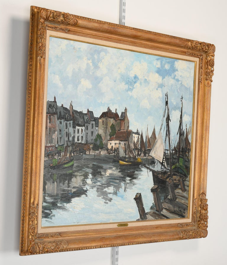 Late 20th Century Monumental Oil Painting on Canvas by Fernand Herbo, 20th Century For Sale