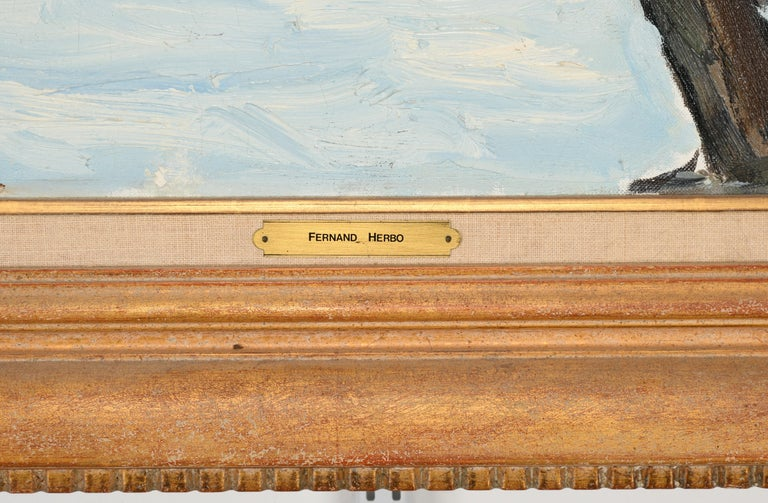 Monumental Oil Painting on Canvas by Fernand Herbo, 20th Century For Sale 1