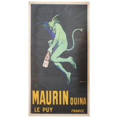 Monumental Original French Poster Maurin Quina Ley Puy, Great for Winery/ Bar