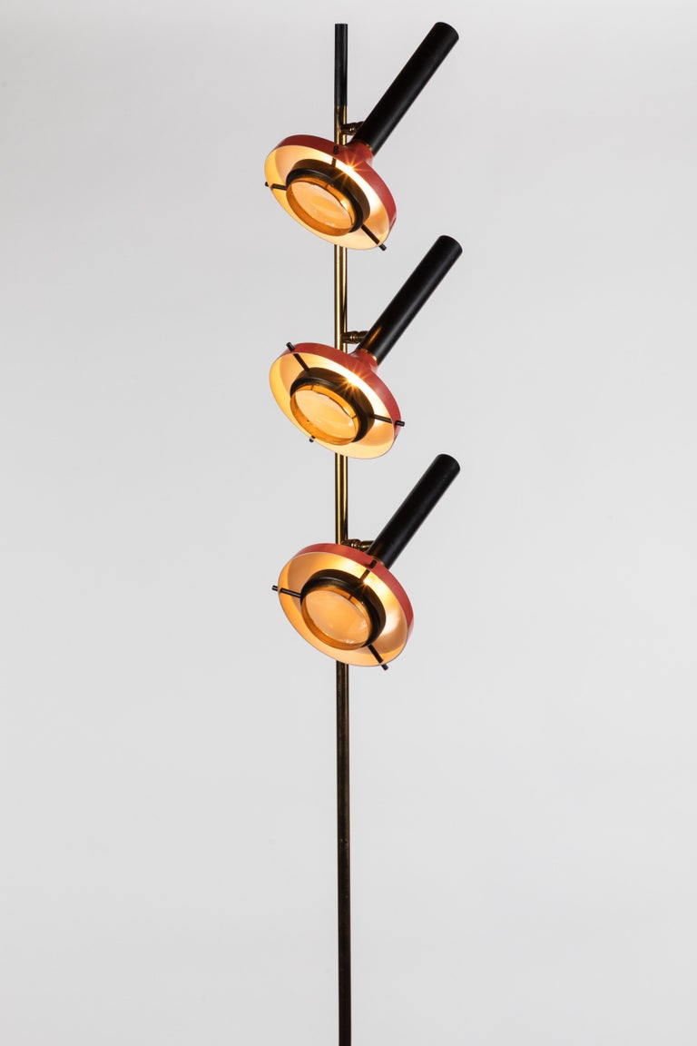 Monumental Oscar Torlasco 3-Cone Floor Lamp for Lumi, circa 1958 For Sale 3