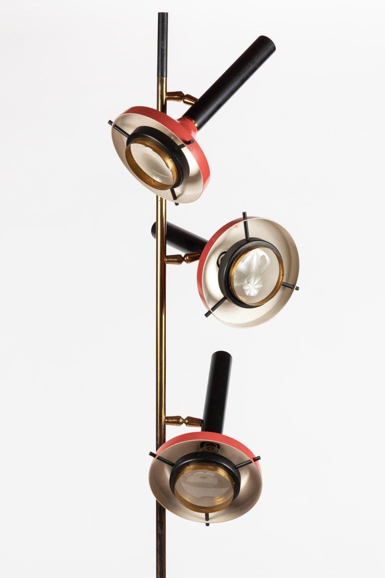 Monumental Oscar Torlasco 3-Cone Floor Lamp for Lumi, circa 1958 For Sale 5