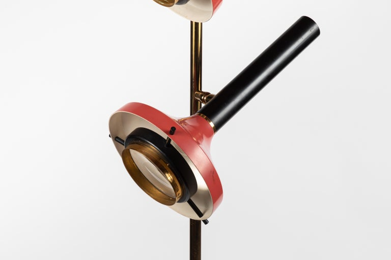 Monumental Oscar Torlasco 3-Cone Floor Lamp for Lumi, circa 1958 For Sale 7
