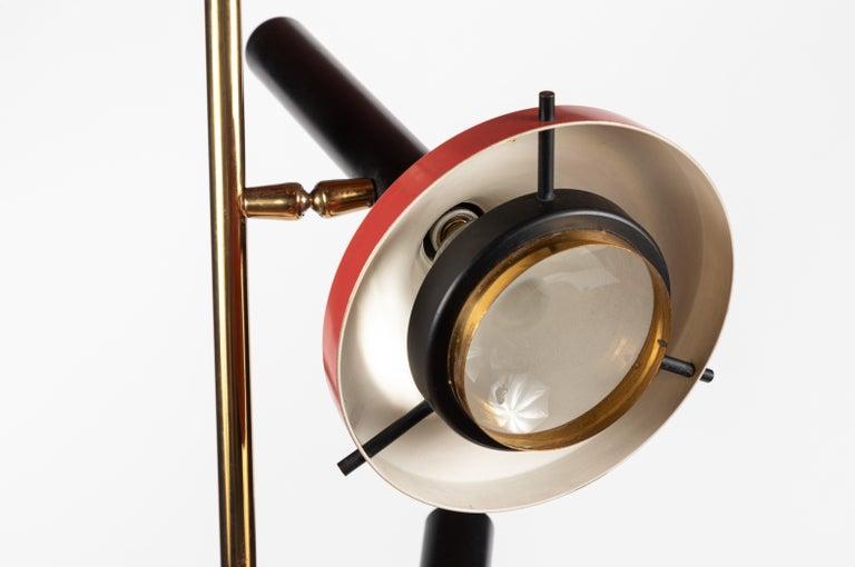 Monumental Oscar Torlasco 3-Cone Floor Lamp for Lumi, circa 1958 For Sale 8