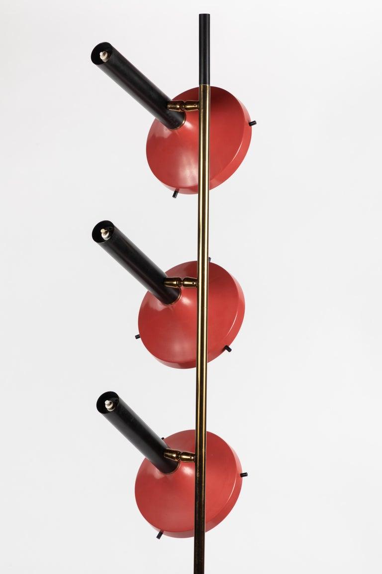 Monumental Oscar Torlasco 3-Cone Floor Lamp for Lumi, circa 1958 For Sale 1