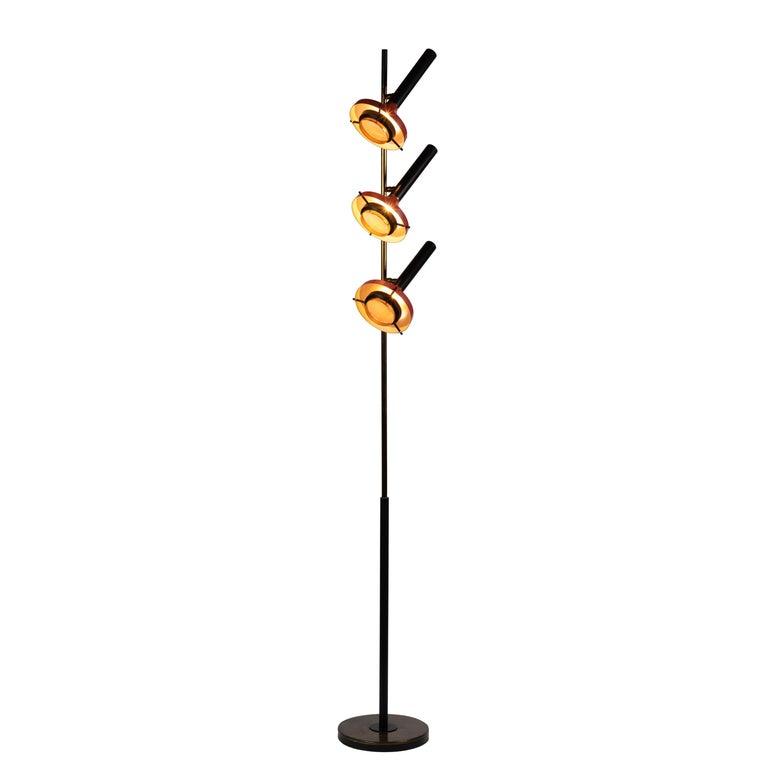 Monumental Oscar Torlasco 3-Cone Floor Lamp for Lumi, circa 1958 For Sale