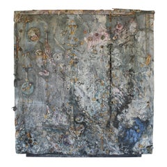 Monumental Outsider Art Assemblage Painting on Canvas