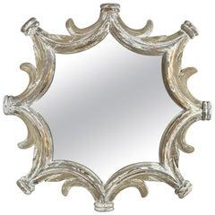 Monumental Painted Italian Star Shaped Mirror, Mid-20th Century