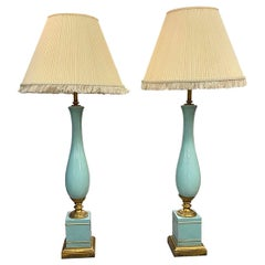 Monumental Pair of French Mid-Century Modern 1950s Table Lamps
