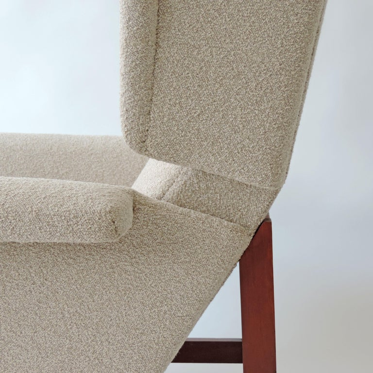 Upholstery Monumental Pair of Italian 1960s Lounge Chairs For Sale