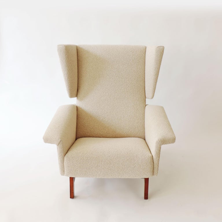 Monumental Pair of Italian 1960s Lounge Chairs For Sale 3