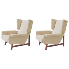 Monumental Pair of Italian 1960s Lounge Chairs