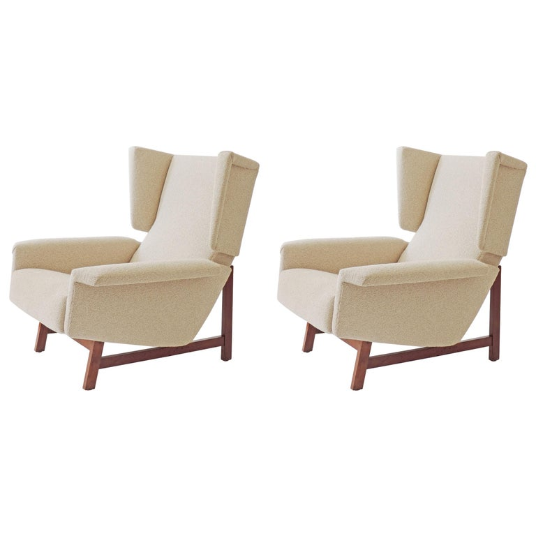 Monumental Pair of Italian 1960s Lounge Chairs For Sale