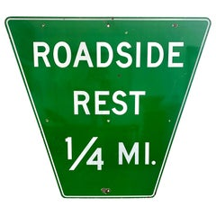Monumental Porcelain Roadside Rest Highway Sign