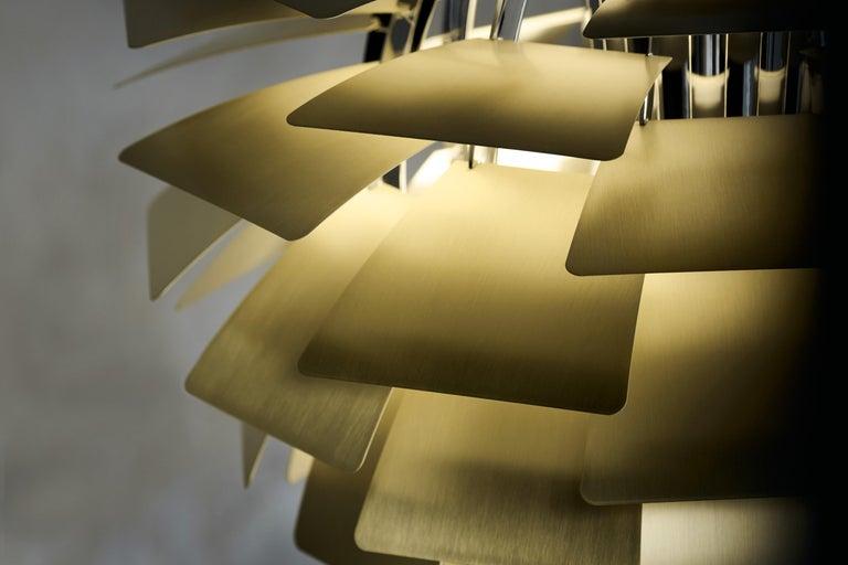 Danish Monumental Poul Henningsen Brass PH Artichoke Chandelier for Louis Poulsen For Sale