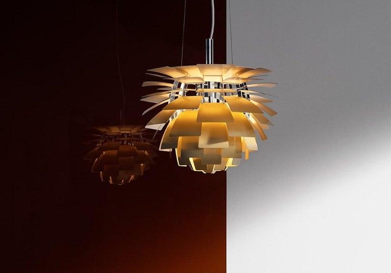 Scandinavian Modern Monumental Poul Henningsen Brass PH Artichoke Chandelier for Louis Poulsen For Sale