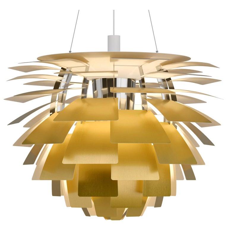 Monumental Poul Henningsen Brass PH Artichoke Chandelier for Louis Poulsen For Sale