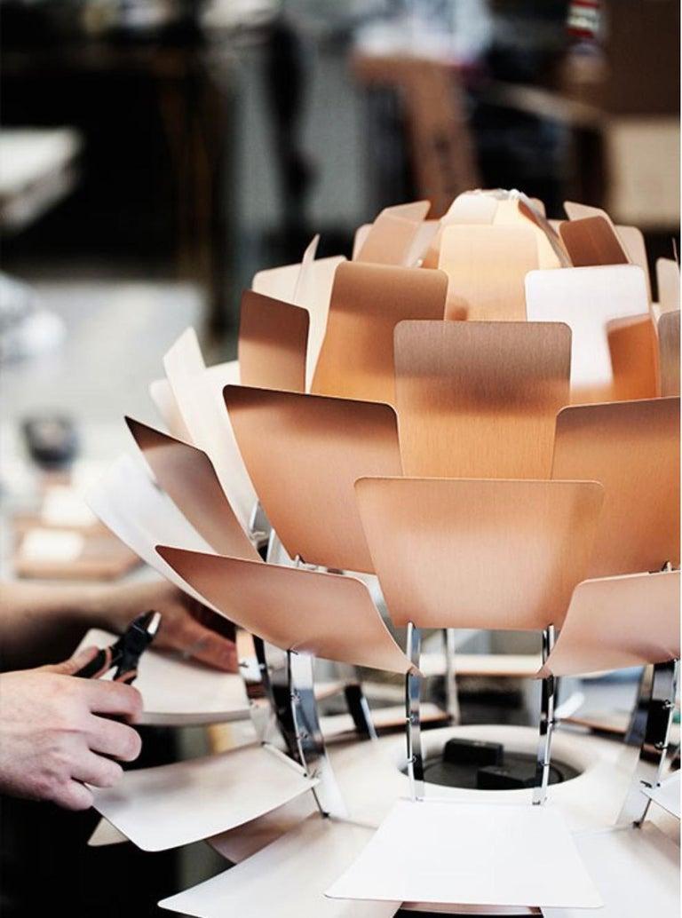 Scandinavian Modern Monumental Poul Henningsen Copper PH Artichoke Chandelier for Louis Poulsen For Sale