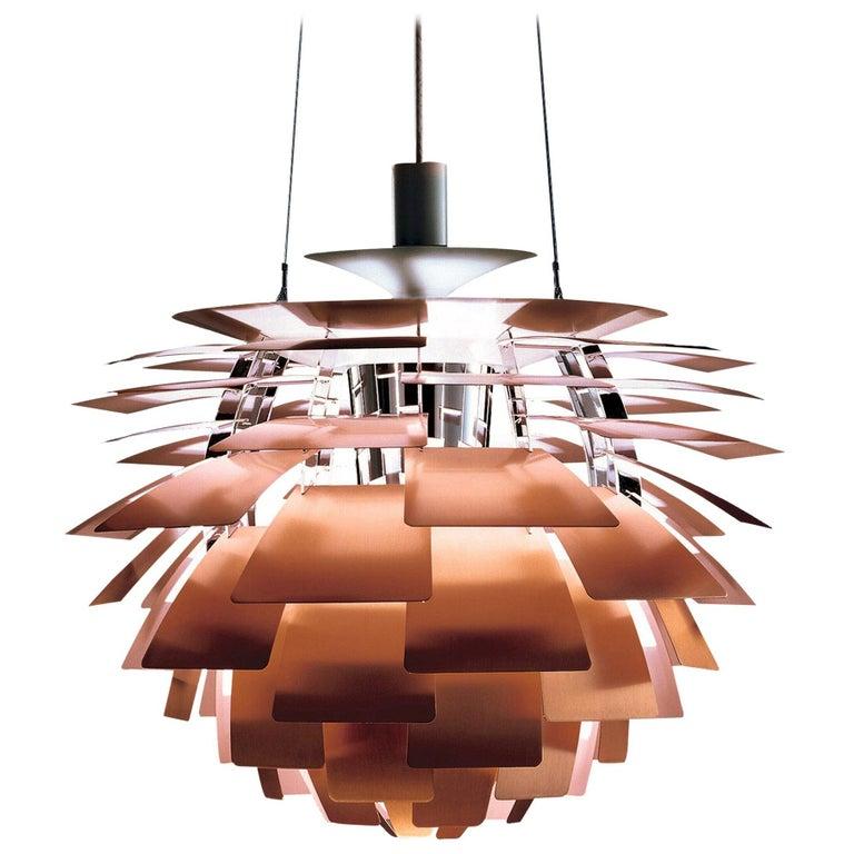 Monumental Poul Henningsen Copper PH Artichoke Chandelier for Louis Poulsen For Sale