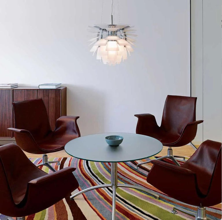 Scandinavian Modern Monumental Poul Henningsen PH Glass Artichoke Chandelier for Louis Poulsen For Sale