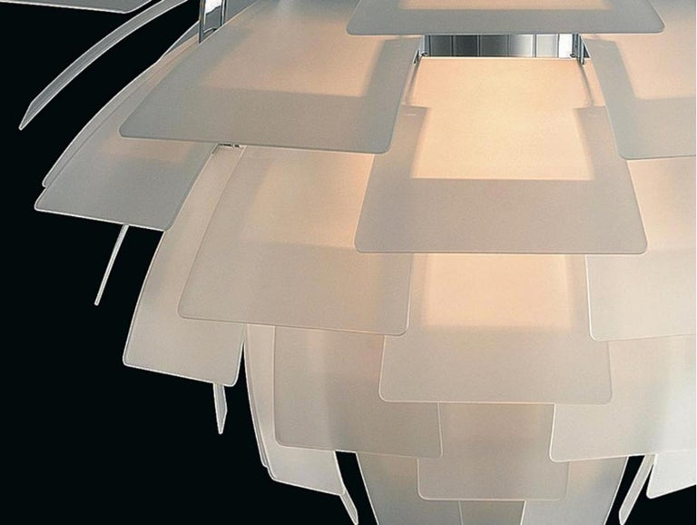 Monumental Poul Henningsen PH Glass Artichoke Chandelier for Louis Poulsen In New Condition For Sale In Glendale, CA