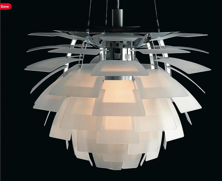 Metal Monumental Poul Henningsen PH Glass Artichoke Chandelier for Louis Poulsen For Sale