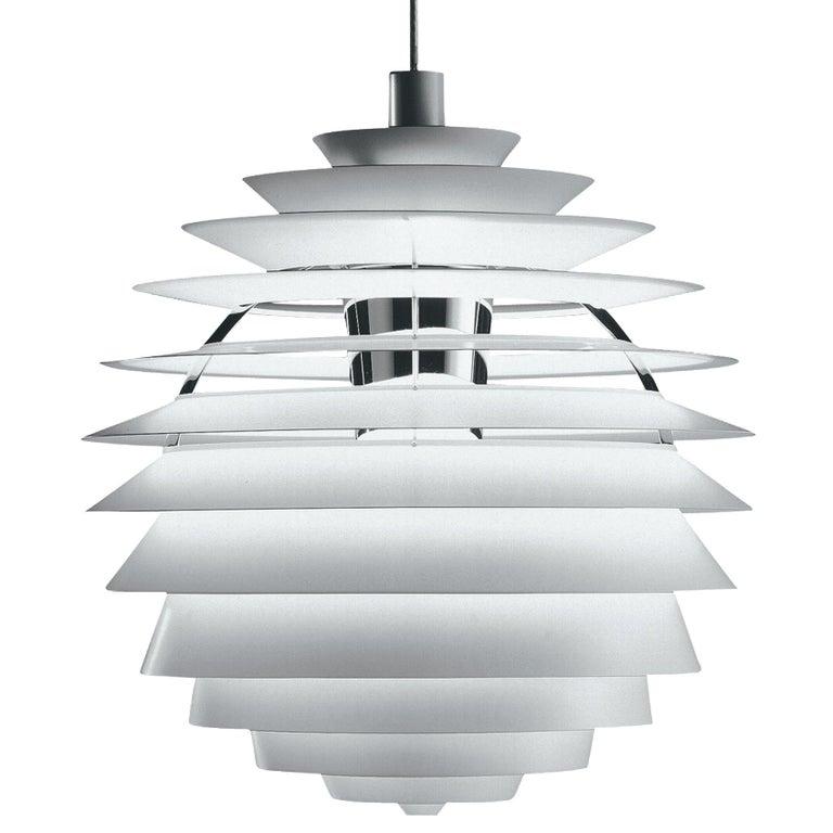 Scandinavian Modern Monumental Poul Henningsen PH Louvre Suspension Lamp for Louis Poulsen For Sale