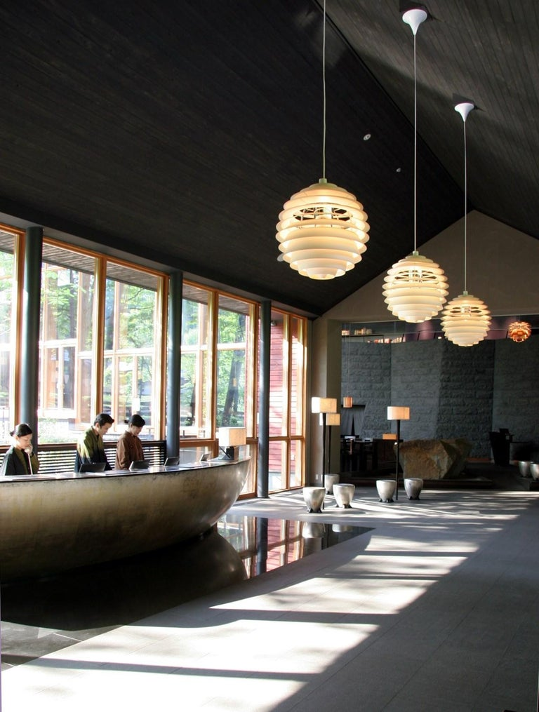 Spun Monumental Poul Henningsen PH Louvre Suspension Lamp for Louis Poulsen For Sale