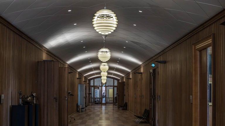 Monumental Poul Henningsen PH Louvre Suspension Lamp for Louis Poulsen For Sale 1