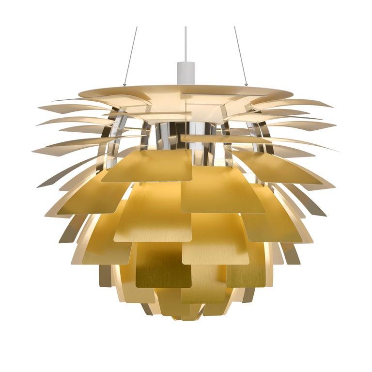 Contemporary Monumental Poul Henningsen Steel PH Artichoke Chandelier for Louis Poulsen For Sale