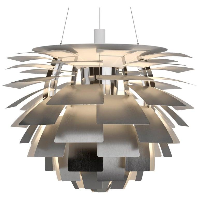 Monumental Poul Henningsen Steel PH Artichoke Chandelier for Louis Poulsen For Sale