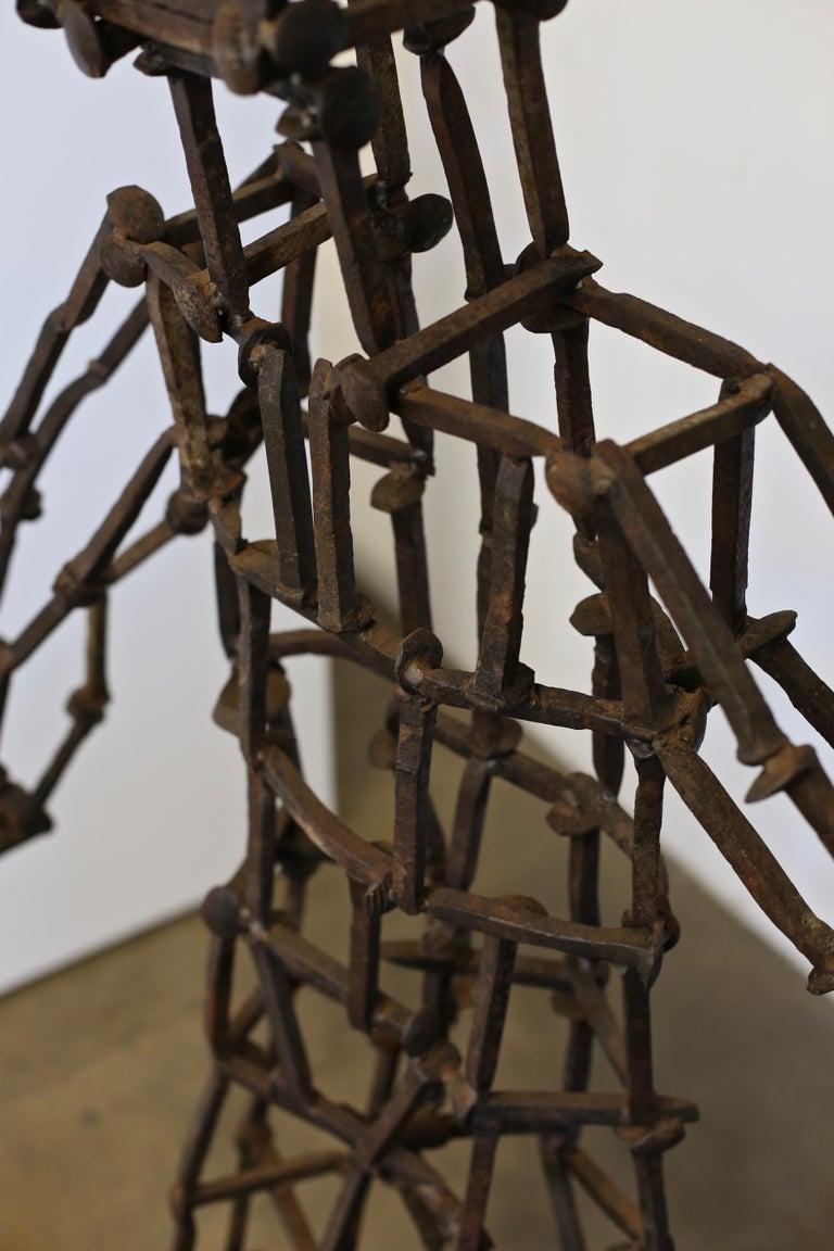 Steel Monumental Railroad Spike Sculpture by Bruce Gray, 1992